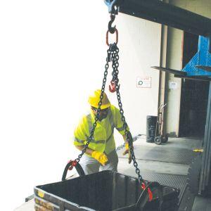 "3/8"" G80 Double Leg Mechanical Lifting Slings with Sling Hooks"