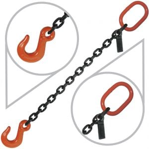 "3/8"" G80 Single Leg Welded Lifting Slings with Sling Hook"