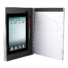 Silver Aluminum Padfolio Clipboard For iPad