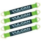 VULCAN Car Tie Down Axle Strap with Wear Pad - 2 Inch x 22 Inch, 4 Pack - High-Viz - 3,300 Pound Safe Working Load
