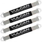VULCAN Car Tie Down Axle Strap with Wear Pad - 2 Inch x 22 Inch, 4 Pack - Silver Series - 3,300 Pound Safe Working Load