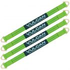 VULCAN Car Tie Down Axle Strap with Wear Pad - 2 Inch x 36 Inch, 4 Pack - High-Viz - 3,300 Pound Safe Working Load