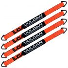VULCAN Car Tie Down Axle Strap with Wear Pad - 2 Inch x 36 Inch, 4 Pack - PROSeries - 3,300 Pound Safe Working Load