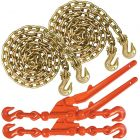 VULCAN Chain and Load Binder Kit - Grade 70 - 5/16 Inch x 10 Foot - 4,700 Pound Safe Working Load