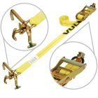 VULCAN Classic Yellow Universal Frame Hook E-track Tie Downs (72'' or 96'') Safe Working Load - 3300 lbs.