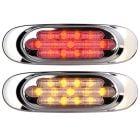 MAXXIMA Chrome Oval Clearance Lights