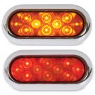 "6"" Oval Flat Back LED Lights"