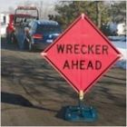 "TrafFix ""WRECKER AHEAD"" Roll-Up Sign (Sign Only, Stands Sold Separately)"