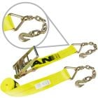 "4"" Ratchet Straps with Chain Anchors"