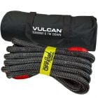 VULCAN Off-Road Recovery Rope - 7/8 Inch x 30 Foot - Red Eyes - 28,600 Pound Breaking Strength - Includes Vented Storage Bag