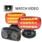 VULCAN High Intensity LED Magnetic Mount Flashing Lights In Red or Amber