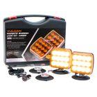 VULCAN Amber Flashing Warning Light Kit For Oversize Loads, Trucks, Trailers, SUVs And Boats