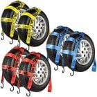 VULCAN 78'' Basket Wheel Dolly Tire Strap with S-Hooks, 1665 lbs. SWL, 2 Pack