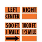 TrafFix Information Strips for Overlay Roll-Up Signs