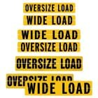 Hinged Aluminum Wide Load - Oversize Load Sign