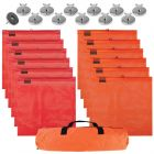 VULCAN Complete Heavy Duty Flags and Magnets Kit - Includes 12 Magnets, 6 Orange Flags, 6 Red Flags, and a High-Viz Vented Storage Bag