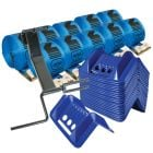 VULCAN Flat Hook Winch Strap Kit - 4 Inch x 30 Foot - Classic Blue - 5,000 Pound Safe Working Load
