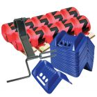 VULCAN Flat Hook Winch Strap Kit - 4 Inch x 30 Foot - Red - 5,000 Pound Safe Working Load